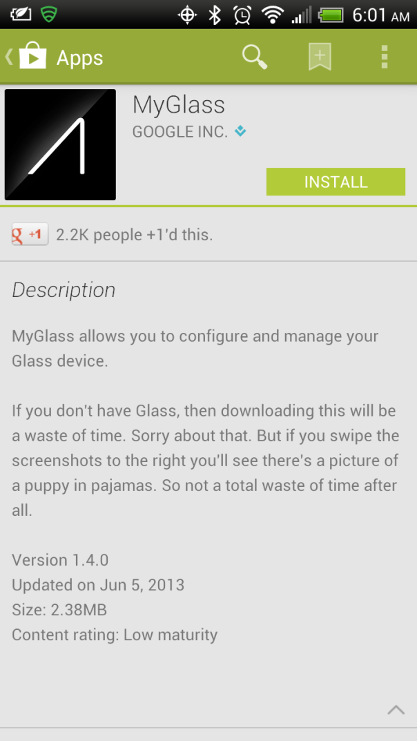 Google Glass Manager
