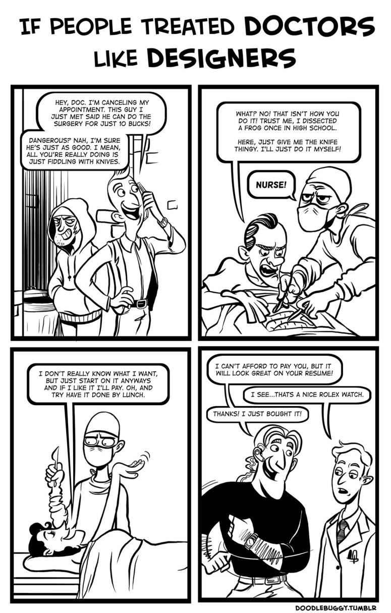 If People Treated Doctors Like Web Designers...
